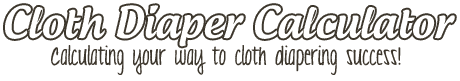 Cloth Diaper Calculator